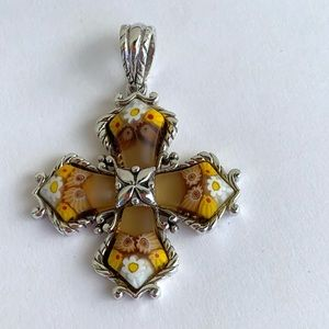 Murano Glass .925 Sterling Silver Pendant Necklace